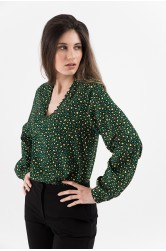 Bluza green animal print